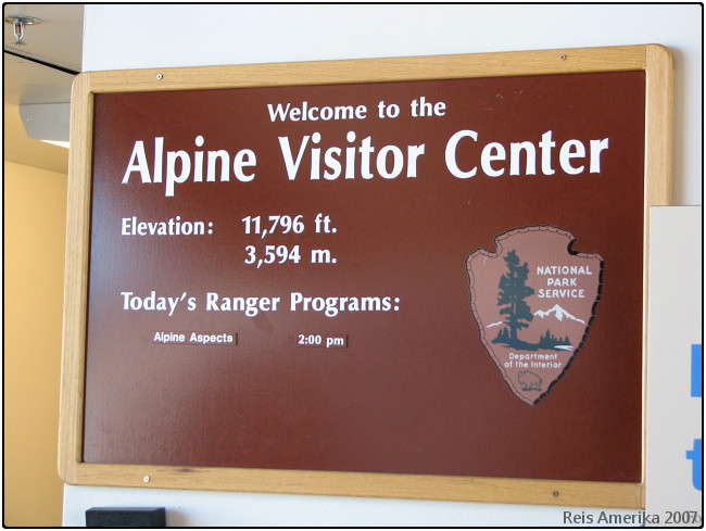 Rocky Mountain NP: Alpine Visitor Center
