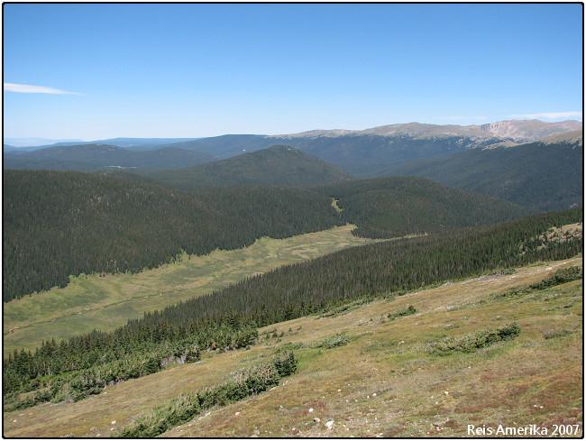 Rocky Mountain NP: Uitzicht Trail Ridge Road